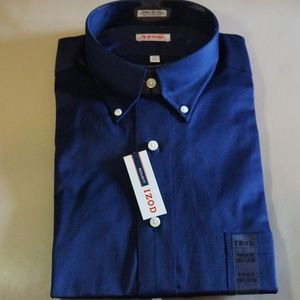 IZOD - Dark Blue Long Sleeve Dress Shirt